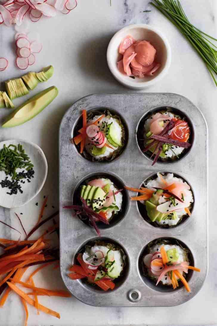 Vegan Sushi Cupcakes   Worldofvegan.com   #sushi #vegan #cupcakes #lunch #worldofvegan #appetizer