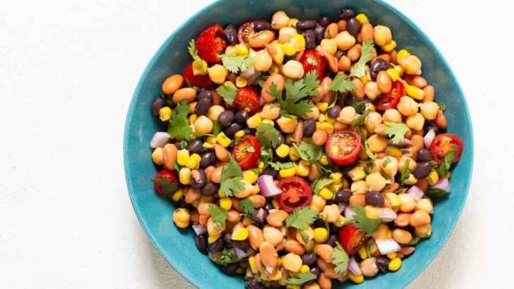 Easy Vegan 3 Bean Salad—Fiesta Style!