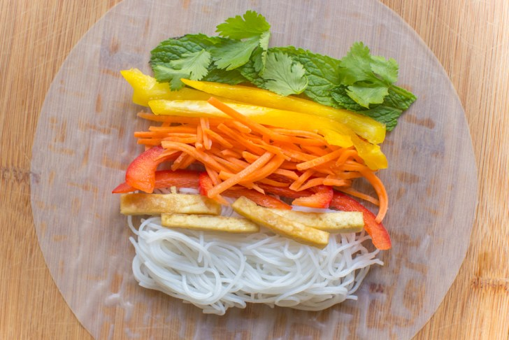 Vegan Rainbow Spring Rolls With NuttZo Dipping Sauce | WorldofVegan.com #vegan #vegetarian #healthy