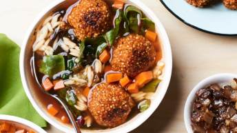 Italian Soup With Quinoa Meatballs