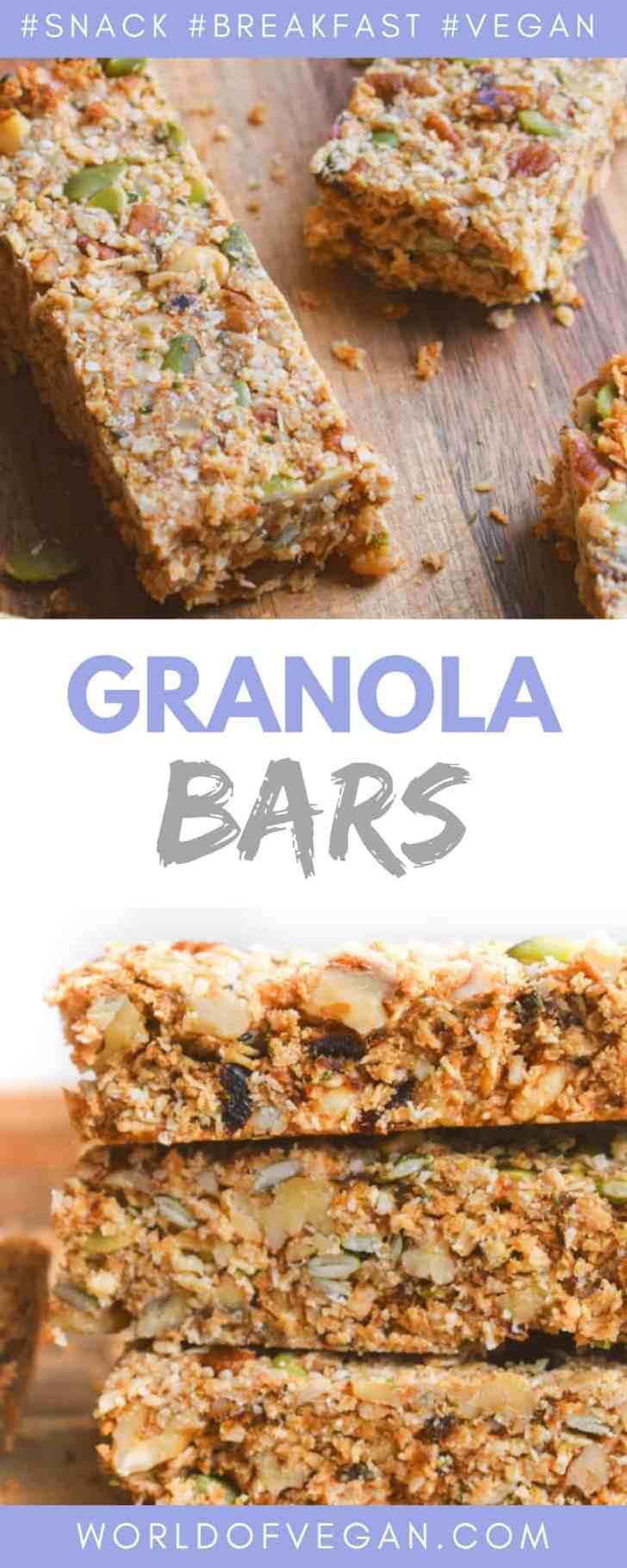 Homemade Granola Bars | Healthy Snack On The Go | World of Vegan | #granola #bars #snack #vegan #breakfast #fall #worldofvegan