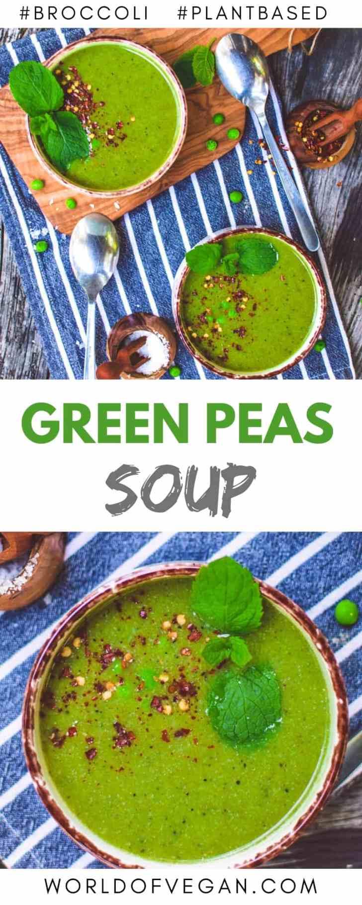 Pea & Broccoli Soup Recipe | Super-Easy Vegan Dinner | #peas #broccoli #soup #winter #fall #worldofvegan