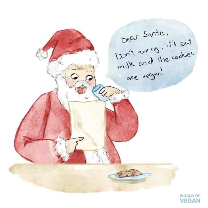 Vegan Santa Cookies and Oat Milk | World of Vegan Art