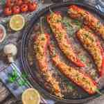 Vegan Couscous Stuffed Peppers   WorldofVegan.com   #couscous #peppers #stuffed #vegan #lunch #easy #recipe #worldofvegan