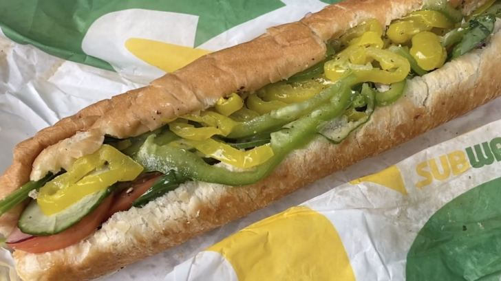 Subway Veggie Delight Sub Vegan Sandwich