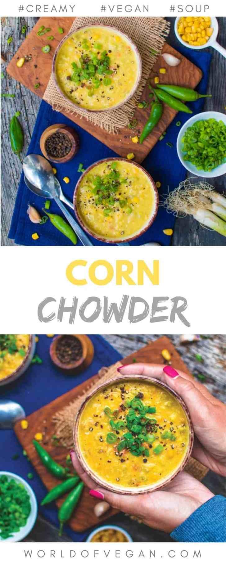Creamy Vegan Corn Chowder PIn