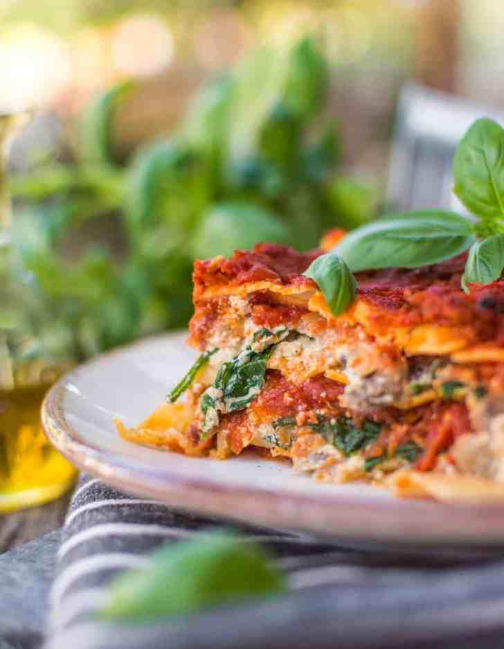Vegan Lasagna Recipe—The Perfect Slice!