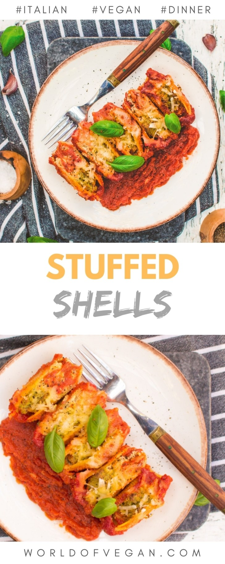Vegan Stuffed Shells With Tofu Ricotta from The Friendly Vegan