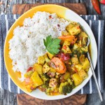Yellow Curry Tofu with White Rice