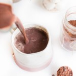 Best Homemade Vegan Hot Cocoa Recipe Pouring into Mug