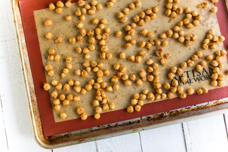 Coated Chickpeas Ready for the Oven