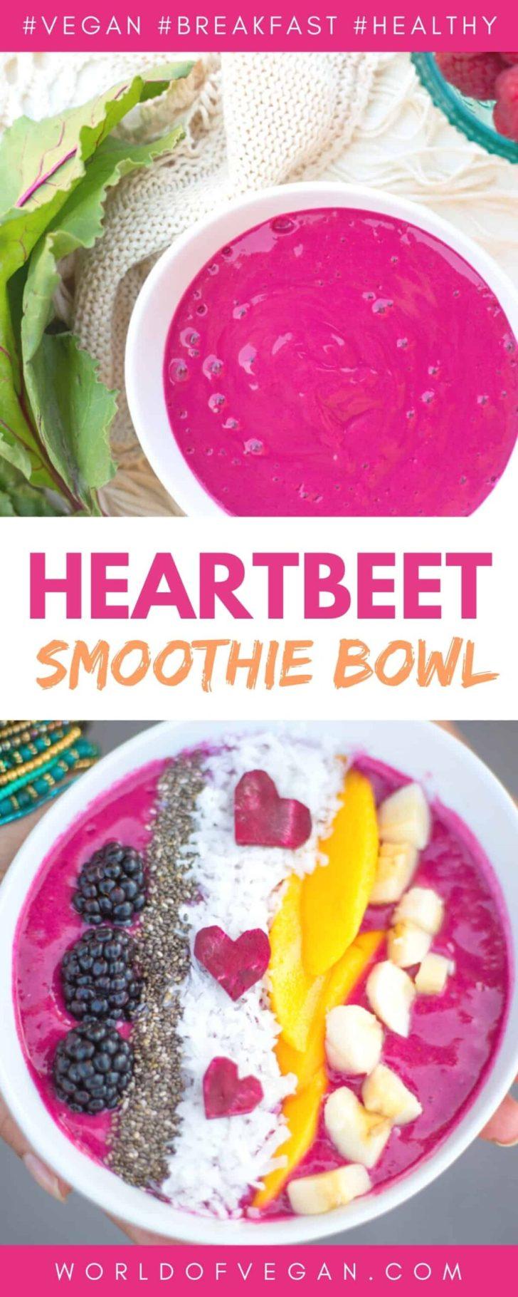 Vegan Heart Beet Smoothie Bowl Recipe