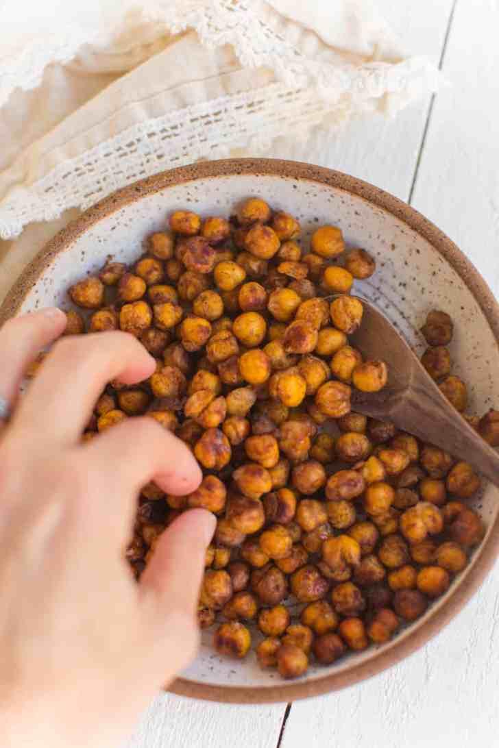 Vegan Sweet Roasted Chickpeas