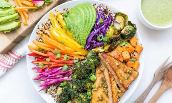 Gluten-Free Quinoa Veggie Buddha Bowl With Tahini Dressing Photo by Alfonso Revilla