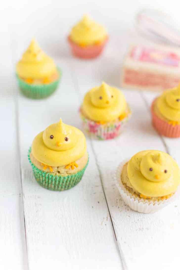 Vegan Buttercream Easter Cupcakes