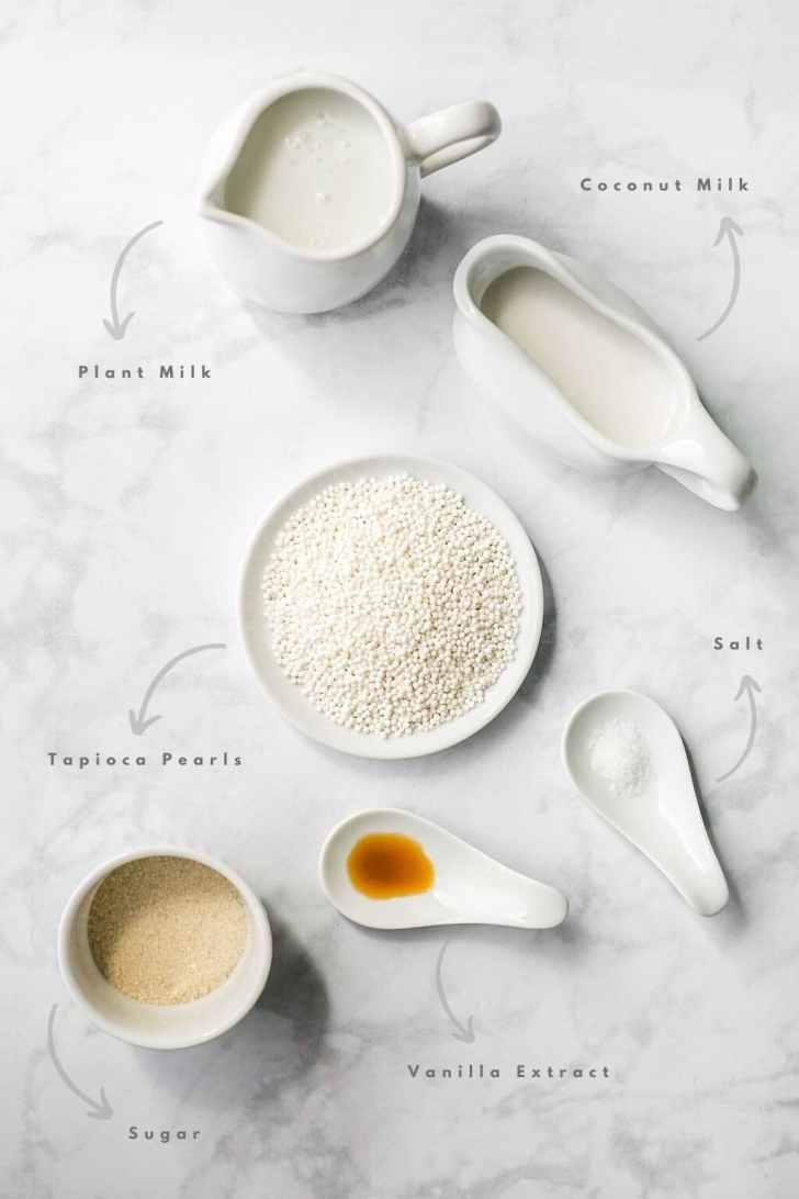 Vegan Tapioca Pudding topped with Mango Recipe