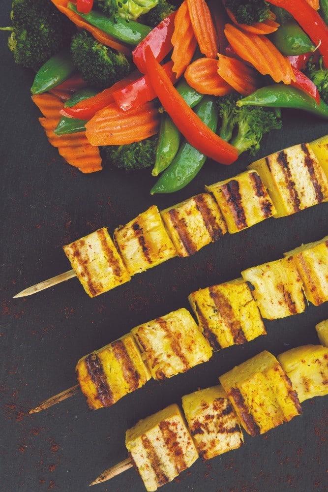 Grilled Tofu Skewers with Veggies