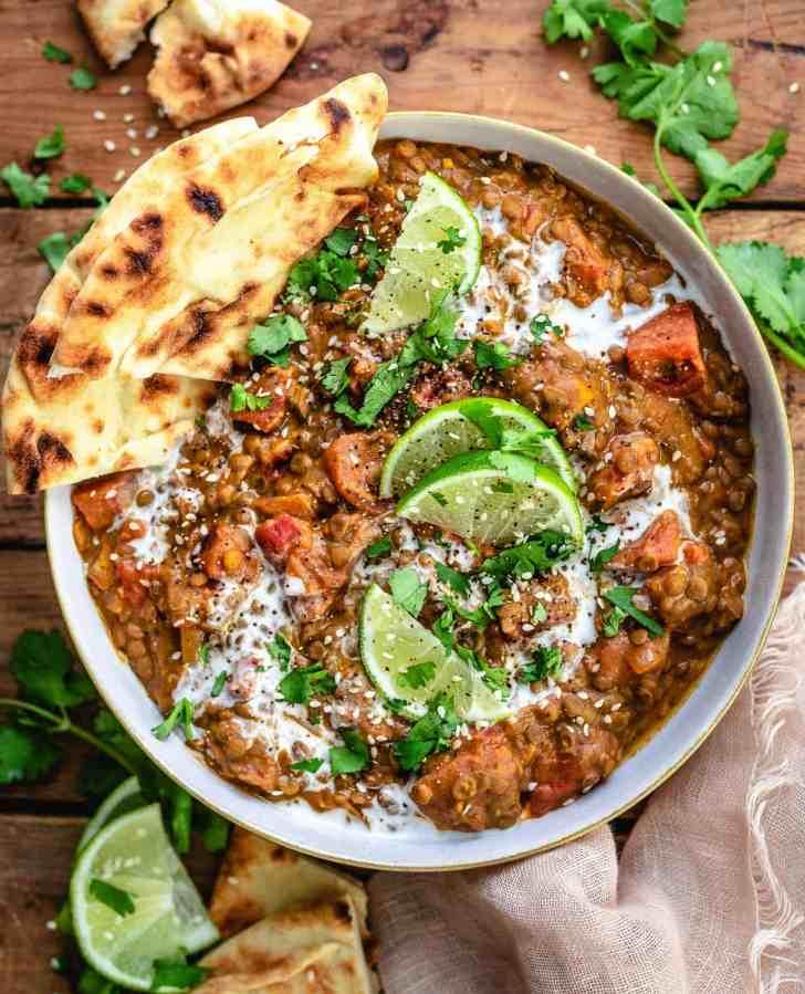 Vegan Dal Recipe in the Instant Pot