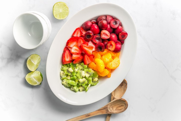 Simple Fruit Salad With Kiwi and Strawberries
