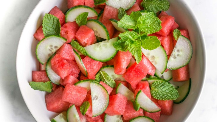 Fresh Cucumber Watermelon Salad