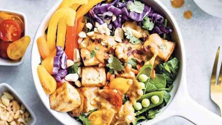 Thai Tofu Salad With Peanut Sauce