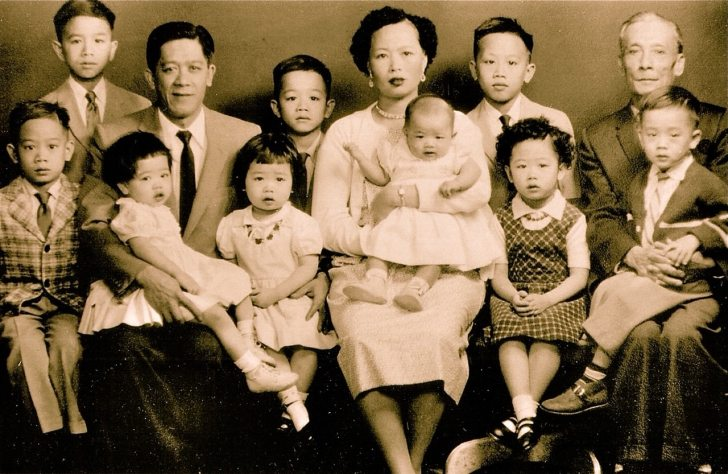 The Ting George Chin Family owners of Ho Ho Restaurant in Rhode Island 1960s