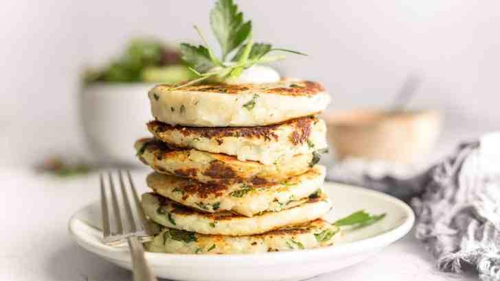 Garlic & Kale Potato Cakes