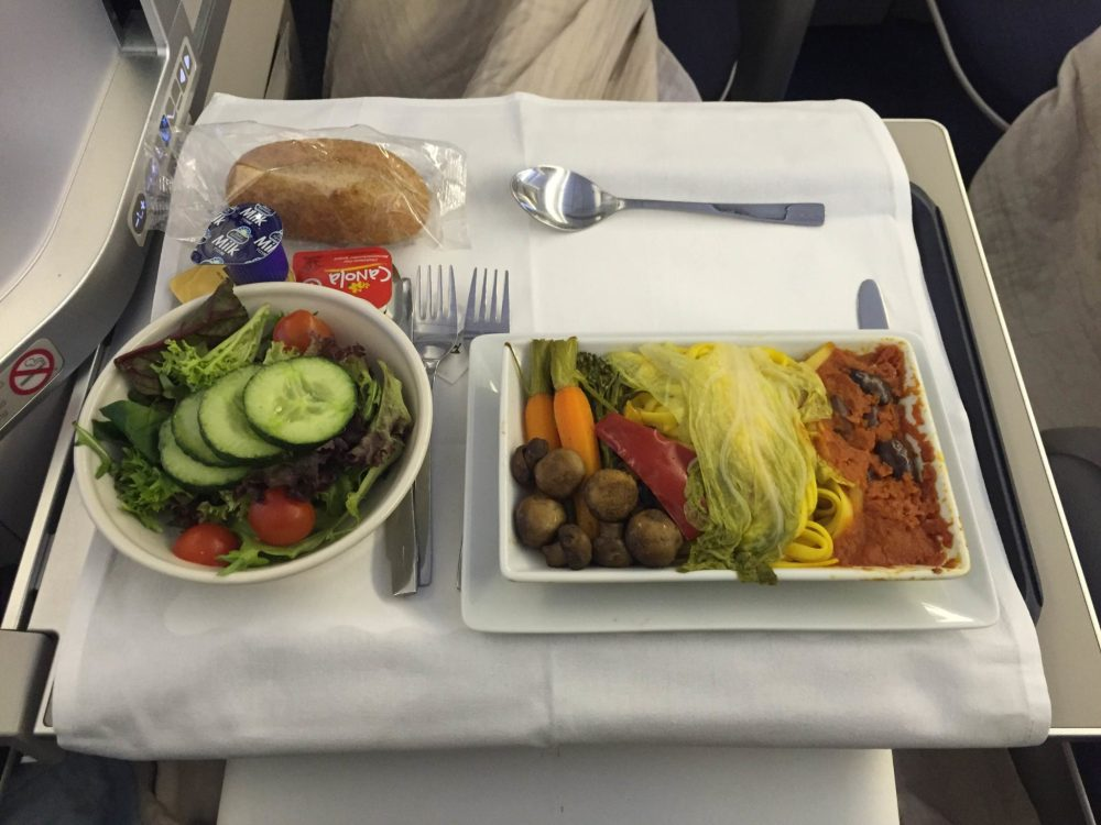 British-Airways-Club-World-Food