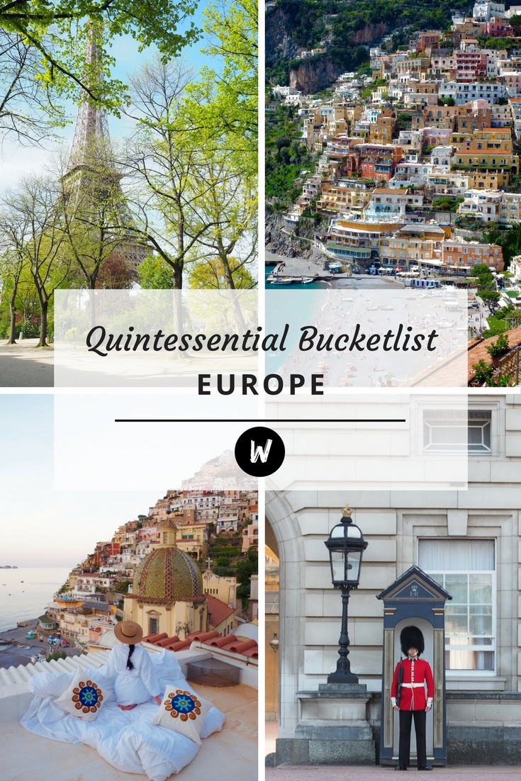 Quintessential Europe - The Big Bad Bucketlist