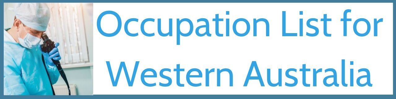 Occupation List For Western Australia