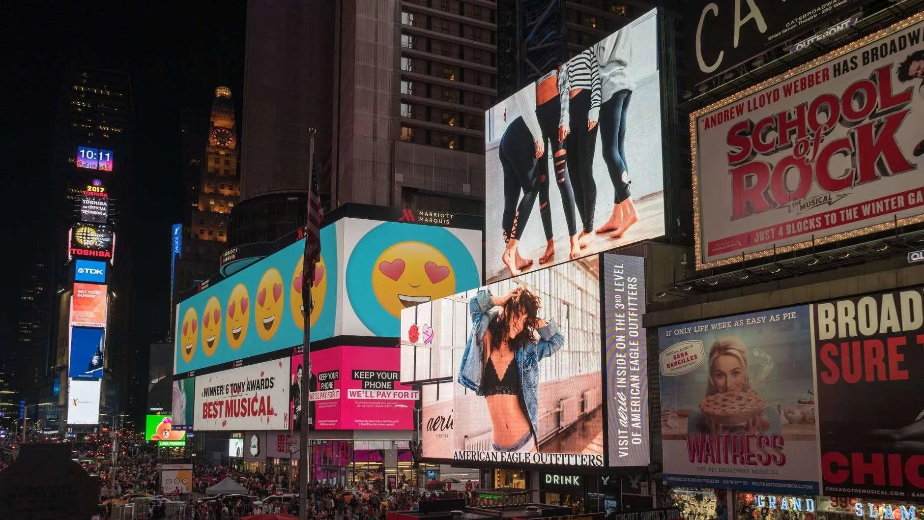 assorted billboards