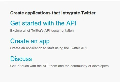 Twitter Developers Page