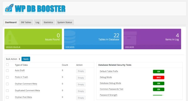 WP DB Booster WordPress Plugin Screenshot