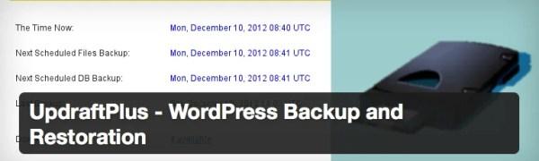 UpdraftPlus - WordPress Backup and Restoration