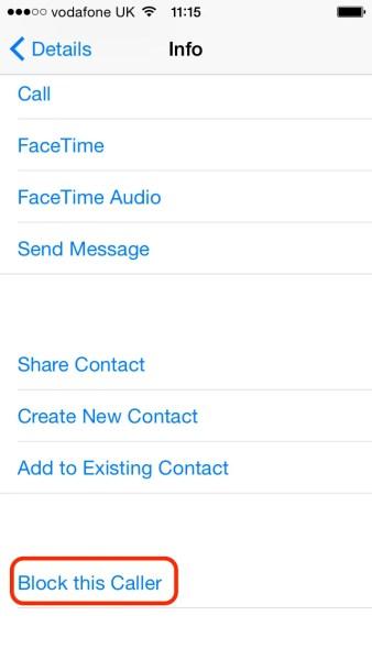 iPhone - Click Block