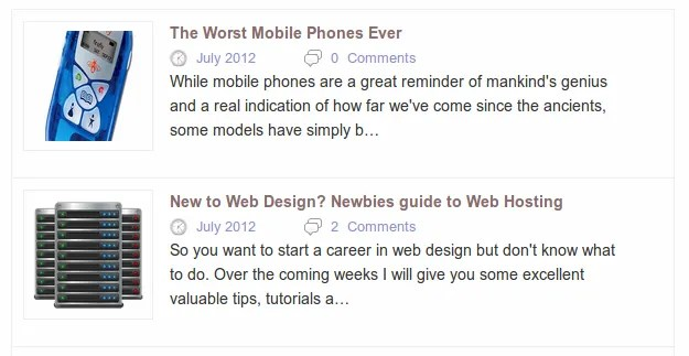 Display WordPress Posts