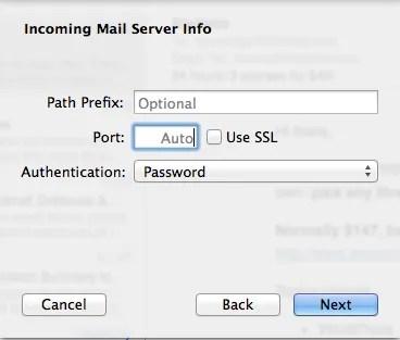 IMAP Settings - Other Info