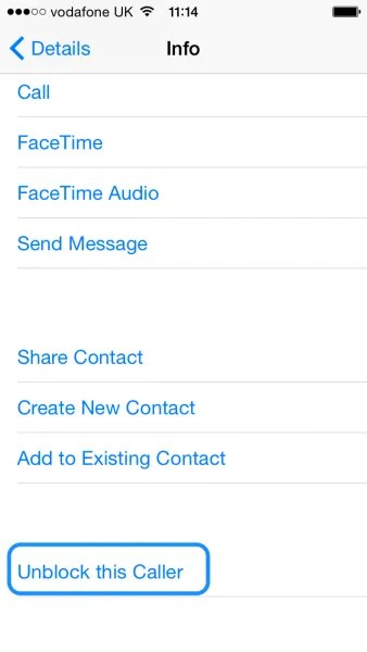 iPhone - Contact Now Blocked
