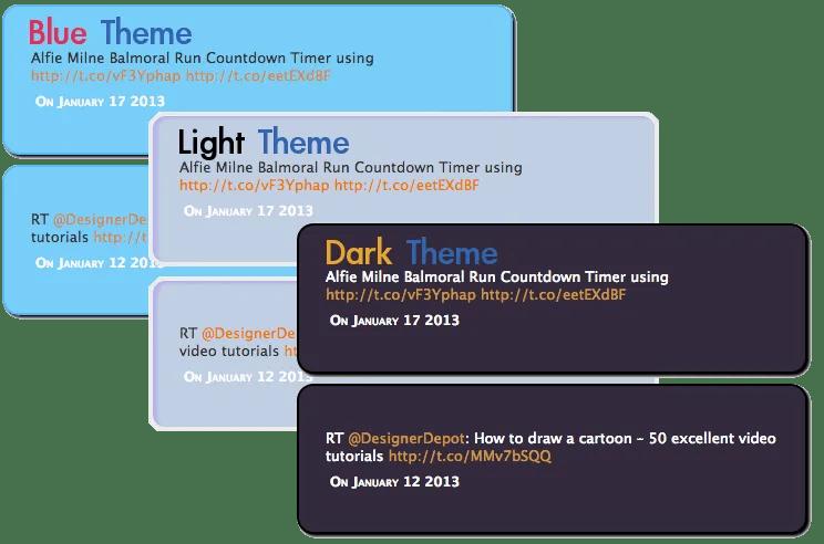 Tweet Themes