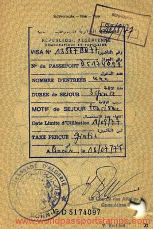 travels to Algeria