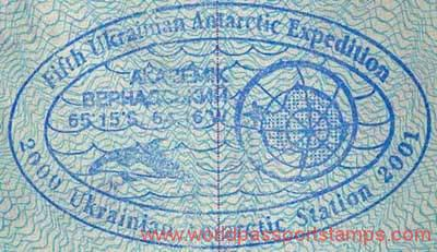 Antarctica - stamp from the Ukrainian polar station, 2001