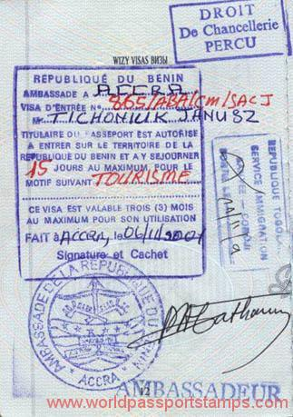 travels to Benin