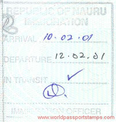 travels and visa to Nauru