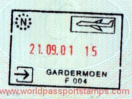Norway Stamp From The Air Border Crossing 2001