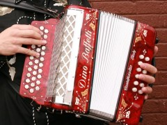 3 row button accordion