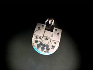 Millennium Falcon piano from above