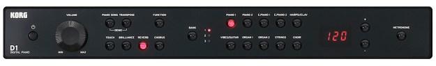 The Korg D1 control panel