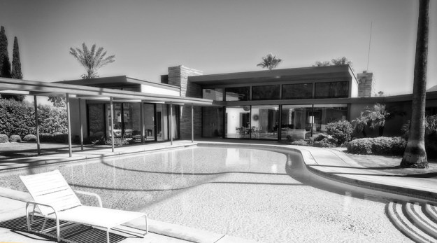 The swimming pool at Frank Sinatra's Twin Palms Estate