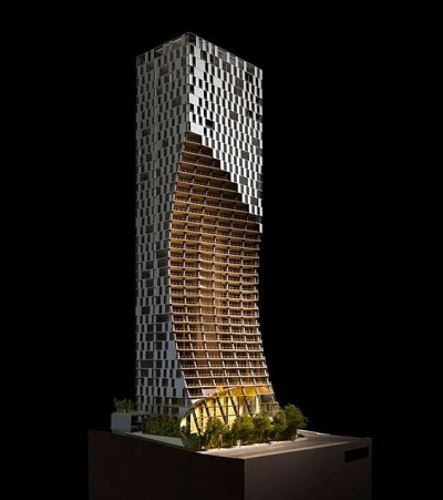 Model of the Kengo Kuma Building, Vancouver