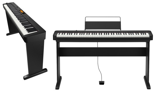Casio CDP-S100 and Casio CDP-S350 on optional stands